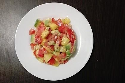 Avocado-Mango Salsa mit Garnelen 10