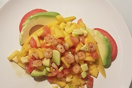Avocado-Mango Salsa mit Garnelen 37