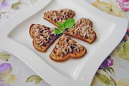 Schokoladen-Waffelkekse mit Schokofrosting