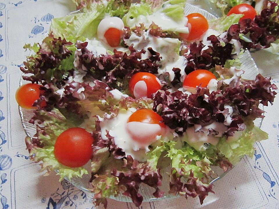 lollo rosso salat mit gurke und roter paprika rezepte suchen. Black Bedroom Furniture Sets. Home Design Ideas