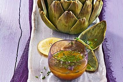 Artischocken mit Kräuter-Senf-Vinaigrette 1