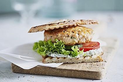 Norwegischer Lachsburger 0