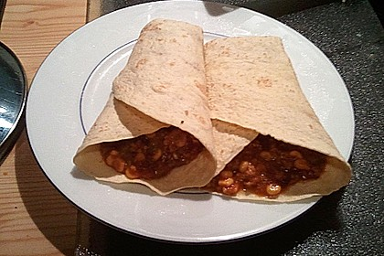 Albertos Wraps mit Chili con Carne 10