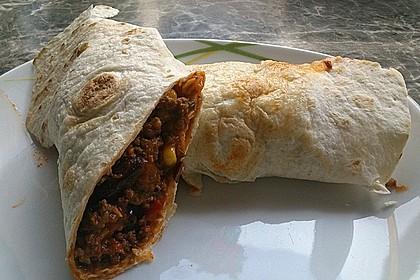 Albertos Wraps mit Chili con Carne 9