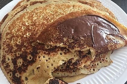 Bananenpfannkuchen mit Nutella 3