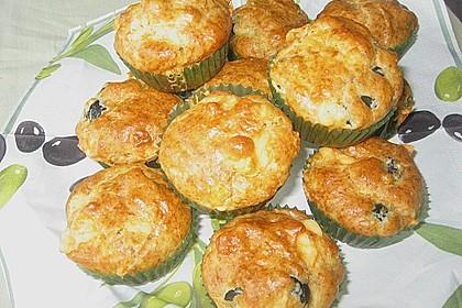 Herzhafte Muffins mit Oliven 3