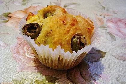 Herzhafte Muffins mit Oliven 6