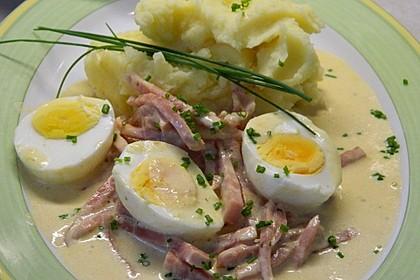 Eier in Schinken-Sahne Soße 3