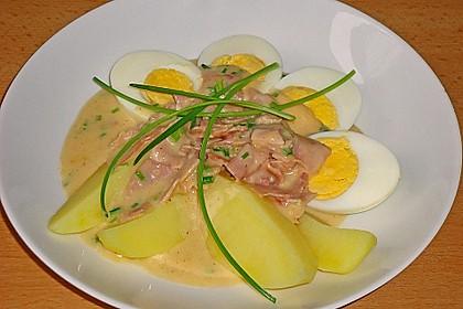 Eier in Schinken-Sahne Soße 1