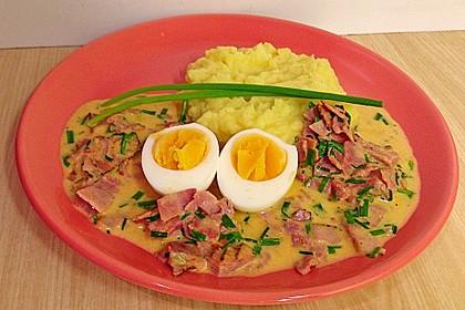 Eier in Schinken-Sahne Soße 12
