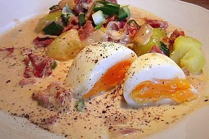 Eier in Schinken-Sahne Soße 5
