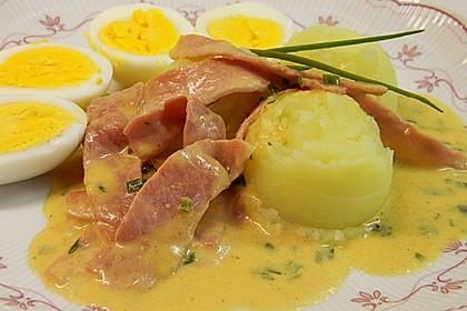 Eier in Schinken-Sahne Soße 26