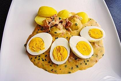 Eier in Schinken-Sahne Soße 6