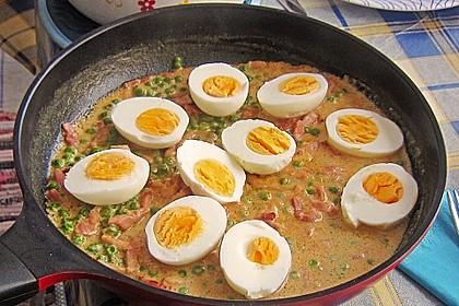 Eier in Schinken-Sahne Soße 16