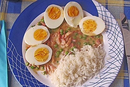 Eier in Schinken-Sahne Soße 13