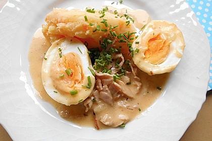 Eier in Schinken-Sahne Soße 10