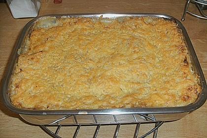Lasagne Tomate-Lauch mit krosser Käsekruste