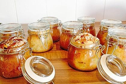Apfelkuchen mit Schuss aus dem Glas 2