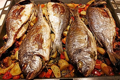 Gebackener  Fisch 1