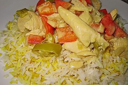 Curryreis mit Hähnchen 0