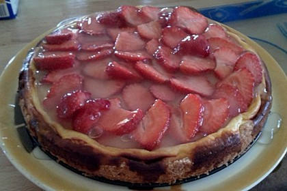Käsekuchen mit Erdbeeren 2