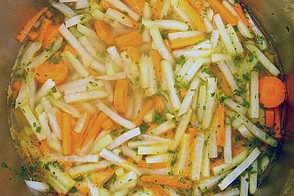 Kohlrabi-Karotten Topf mit Bratwurst 18