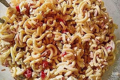 Bunter Nudelsalat grün-rot-gelb 5