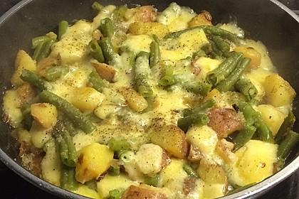 Würzige Kartoffel-grüne Bohnen Pfanne 53