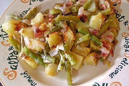 Würzige Kartoffel-grüne Bohnen Pfanne 12