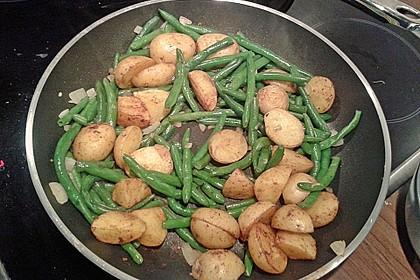 Würzige Kartoffel-grüne Bohnen Pfanne 20