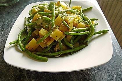 Würzige Kartoffel-grüne Bohnen Pfanne 11