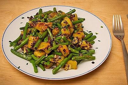 Würzige Kartoffel-grüne Bohnen Pfanne 5
