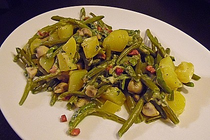 Würzige Kartoffel-grüne Bohnen Pfanne 9
