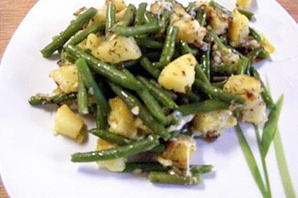 Würzige Kartoffel-grüne Bohnen Pfanne 10