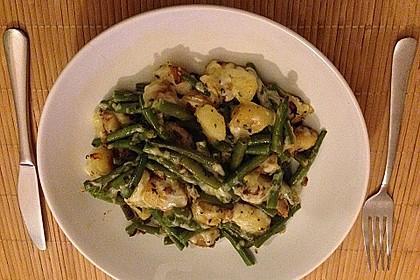 Würzige Kartoffel-grüne Bohnen Pfanne 54