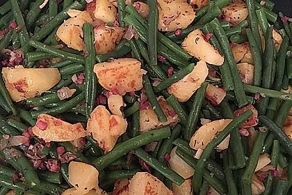Würzige Kartoffel-grüne Bohnen Pfanne 35