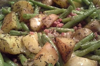 Würzige Kartoffel-grüne Bohnen Pfanne 40