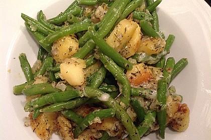 Würzige Kartoffel-grüne Bohnen Pfanne 17