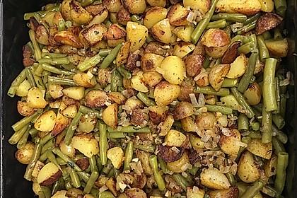 Würzige Kartoffel-grüne Bohnen Pfanne 30
