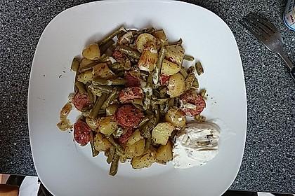 Würzige Kartoffel-grüne Bohnen Pfanne 37