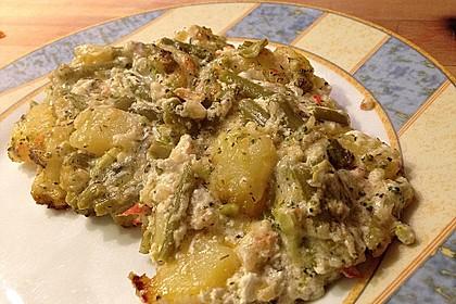 Würzige Kartoffel-grüne Bohnen Pfanne 27