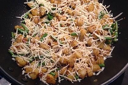 Würzige Kartoffel-grüne Bohnen Pfanne 45