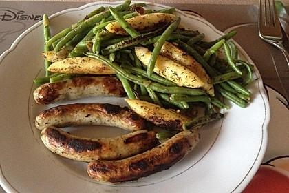 Würzige Kartoffel-grüne Bohnen Pfanne 44