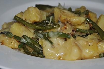 Würzige Kartoffel-grüne Bohnen Pfanne 7