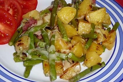 Würzige Kartoffel-grüne Bohnen Pfanne 16