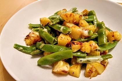 Würzige Kartoffel-grüne Bohnen Pfanne 15