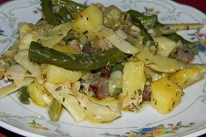 Würzige Kartoffel-grüne Bohnen Pfanne 19