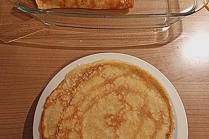 Überbackene Pfannkuchen mit Brokkoli und Schinken gefüllt 3