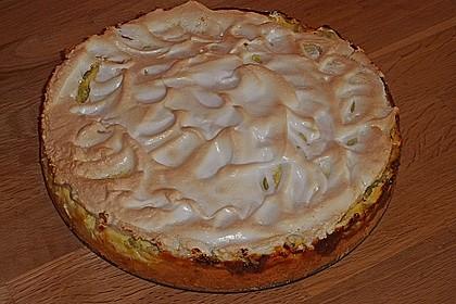 Rhabarberkuchen vom Blech mit Baiserhaube
