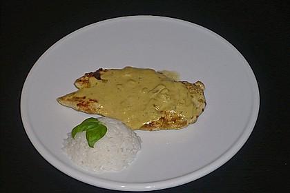 Hühnchenbrust mit Senfsoße